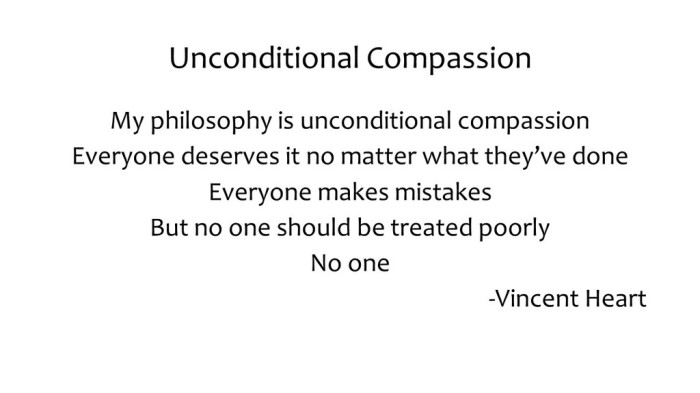 unconditional compassion